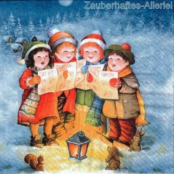 10912 Singing Children - Singende Kinder in Winterlandschaft