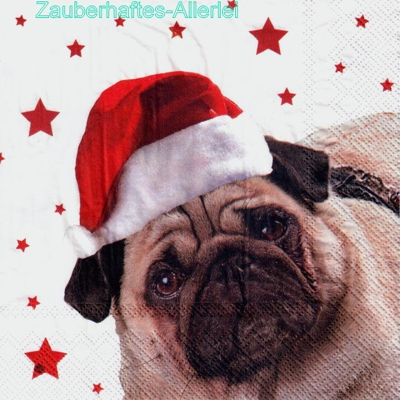 10822 Merry christmas Sir Henry - Mops Hund