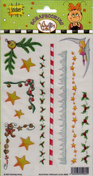 24003 Glittersticker VS Borte Winter/Weihnachten